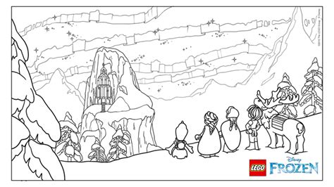 coloring pages lego frozen frozen northern lights the ice castle coloring page