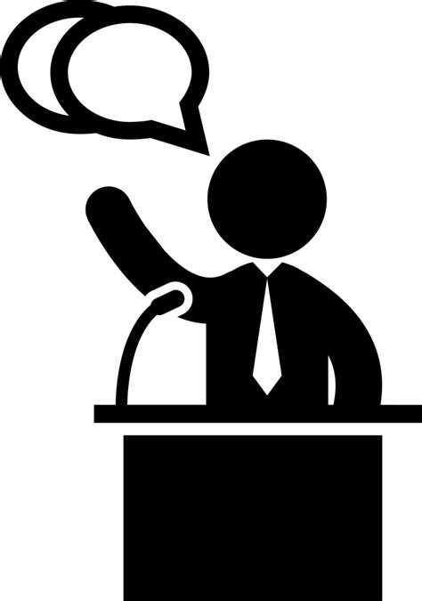 man talking   lecture  microphone svg png icon