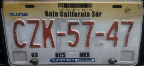 placas de gob baja california sur placas de autos de m 233 xico y otras cos 999 as baja
