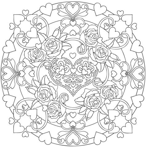 mandala coloring pages hearts mandalas coloring book colouring in