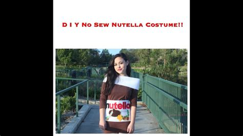 sew nutella costume youtube