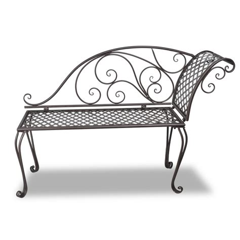 patterned chaise lounge brown metal garden chaise lounge antique brown scroll