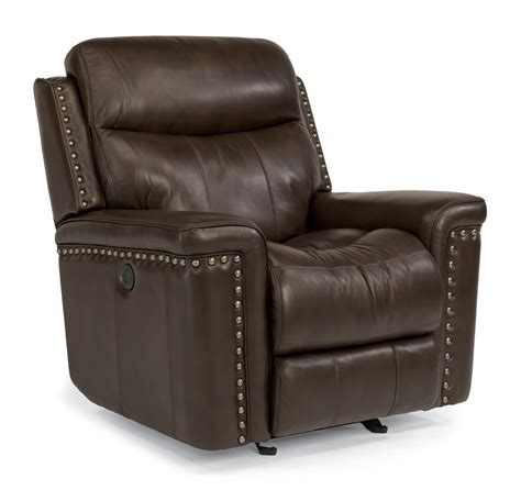 Flexsteel Leather Recliners by Flexsteel Latitudes Grover Leather Match Power Glider