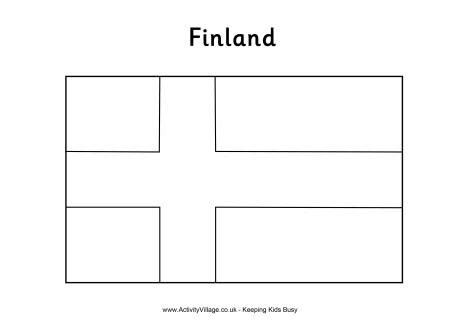 finland colouring flag