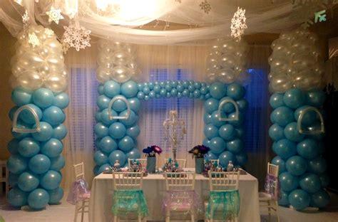 arreglos con globos de frozen decoracion cumpleanos frozen decoracion de interiores