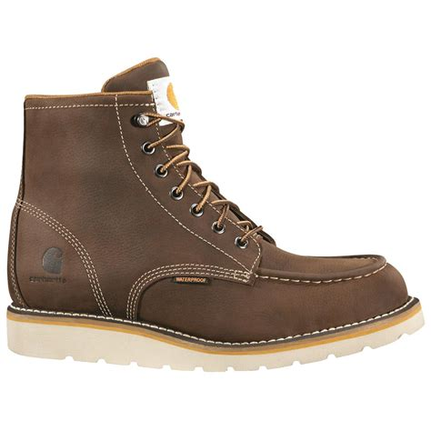 work boots for reviews carhartt s waterproof 6 quot wedge work boots 689508