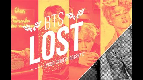 bts lost lyrics bts vocal line lost lyrics eng kor youtube