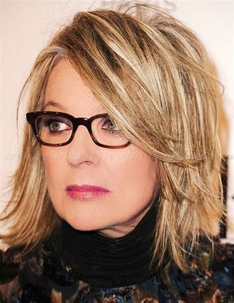 above the shoulder layered hairstyles medium hairstyles over 50 diane keaton layered bob