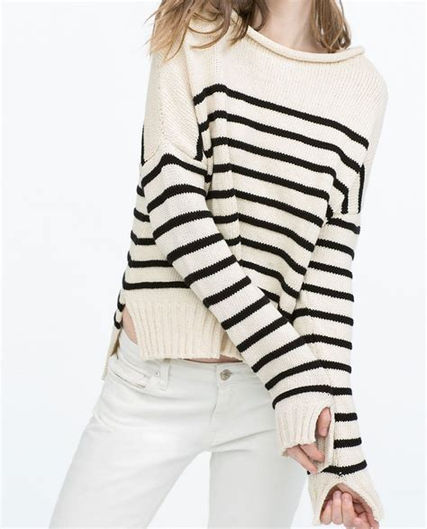 Setelan Sailor Stripes Zara nautical striped sweaters for summer blogher