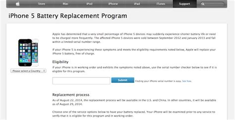 iphone battery replacement program iphone 5 battery replacement program apple