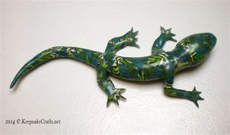 how to make a lizard out of polymer clay canework lizard