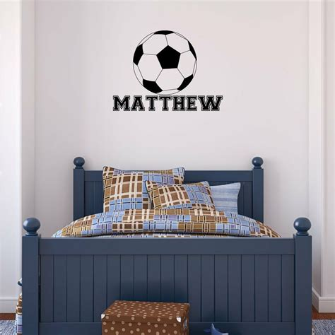 home decor decals personalized name soccer vinyl wall decal sticker