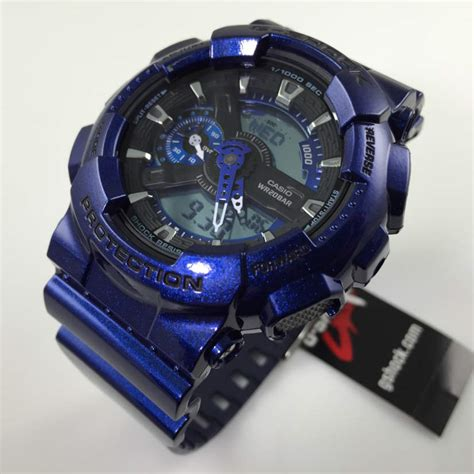 G Shock Blue blue casio g shock analog digital sports ga110nm 2a