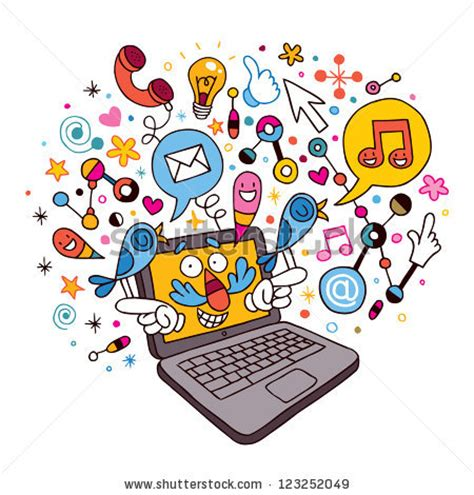 cartoon laptop stock illustration 123252049 shutterstock