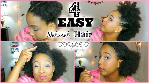 four easy quick hairstyles for short medium natural hair