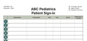 Doctors Sign In Sheet Template by Best Photos Of Dr Sign In Sheets Free Printable Sign In