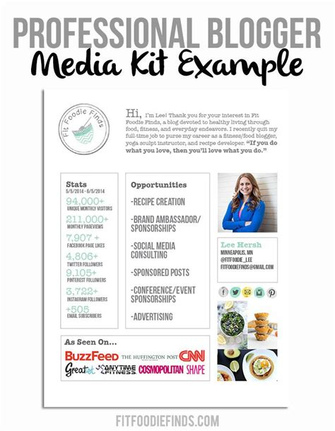 digital press release template professional media kit exle via fitfoodiefinds