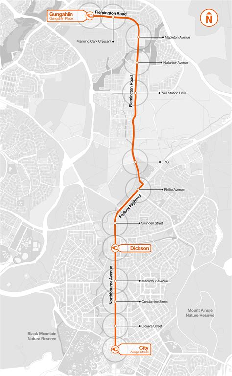 Light Rail Route by Routes And Stops Transport Canberra