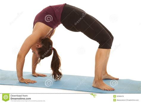 arching back fitness arch back royalty free stock photos image 32368478