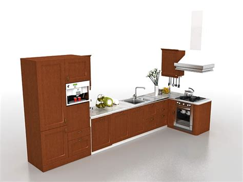 kitchen cabinet 3d kitchen cabinets design 3d model 3ds max files free