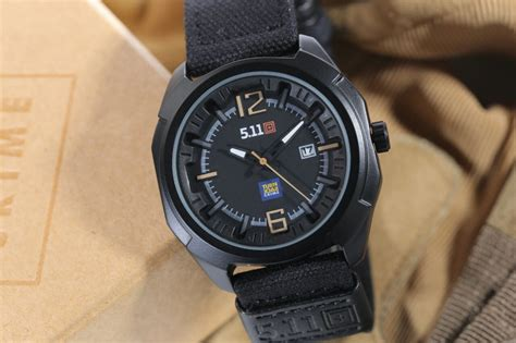 jual jam tangan 511 tactical analog turn back crime tali canvas harga murah