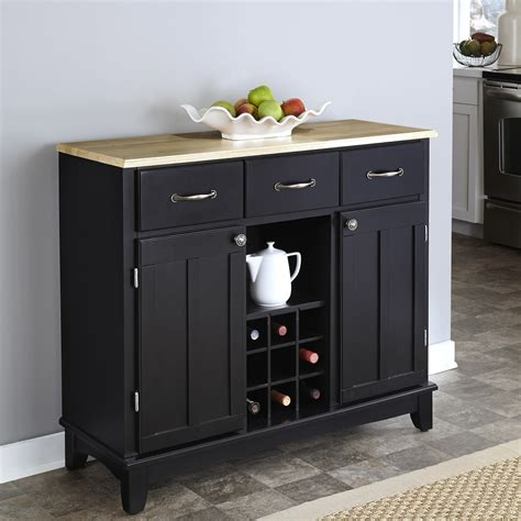 sideboard buffet server dining room cabinet wine rack storage furniture black ebay
