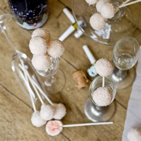 new year 2016 treats pink chagne cake pops a new years treat