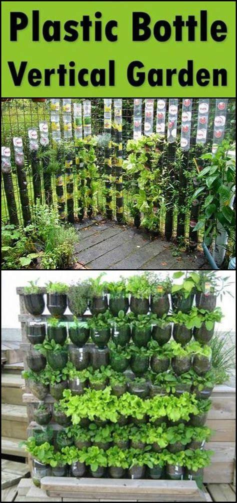 diy garden build a vertical garden from recycled soda bottles
