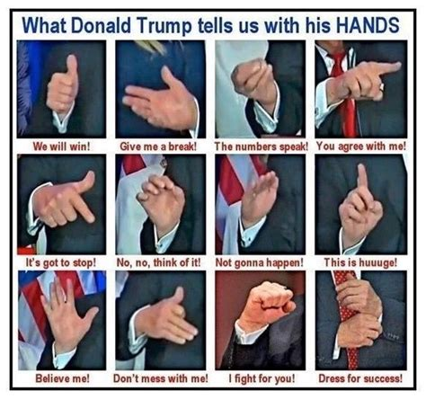 Donald Trump Hand Gestures | what are trump s most frequently used hand gestures quora
