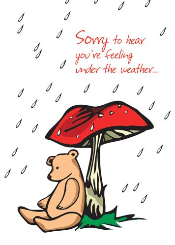 feel better soon with cute bear. free get well soon ecards