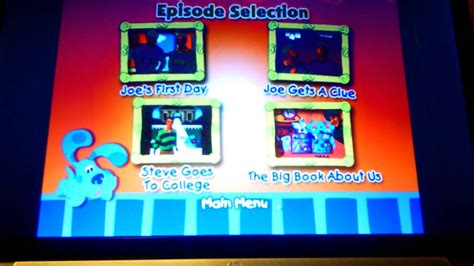 5 little clues 1 word 1 4 jpg blue s clues get to know joe youtube
