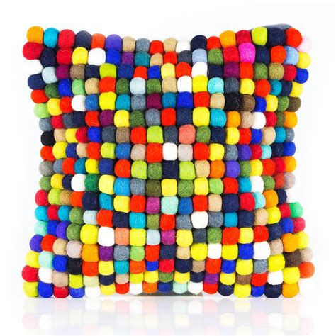 Handmade Felt - handmade felt multicoloured cushion by felt so