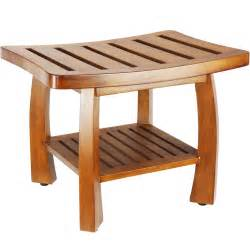 teak wood shower bench in tub caddies and accessories