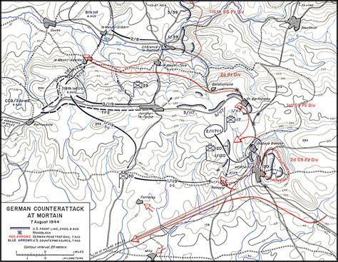 breakout map battle of mortain august 1944 ww2talk