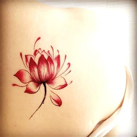simple lotus tattoo 57 top lotus flower tattoos golfian