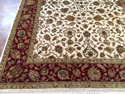 behnam rugs 9 215 12 ivory wool and silk rug india behnam rugs