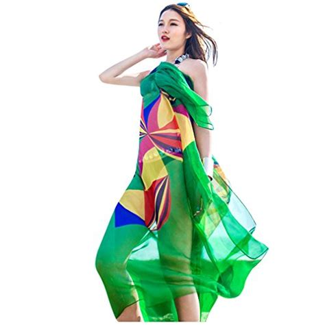 design beach cover ups sale uk gerinly chiffon sarong wrap geometrical design plus size