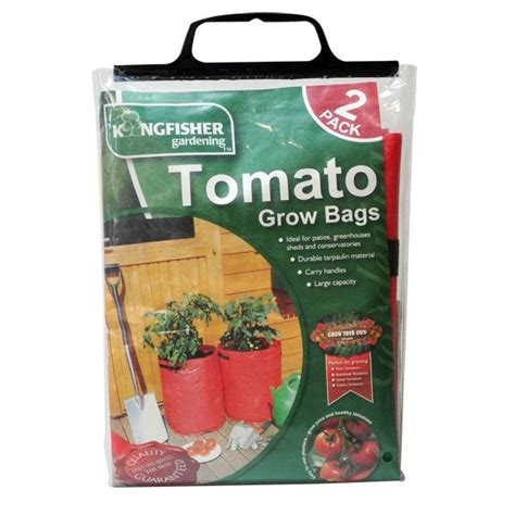 tomato planters growing bags kingfisher pack of 2