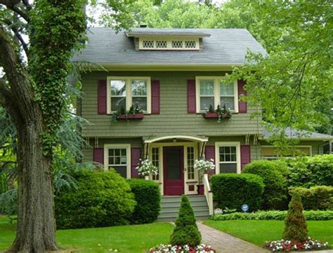 house and shutter color combinations exterior color scheme sage green base burgundy shutters