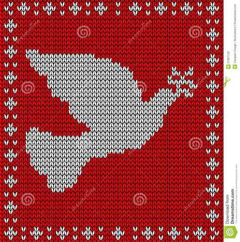 dove knitting pattern knitting dove pattern stock photo image 27907120