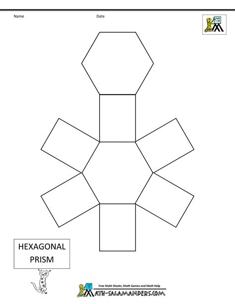 How To Make A 3d Hexagon Out Of Paper - 3d geometric shapes nets