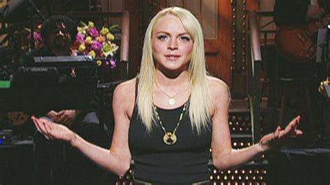 Lindsay Lohan Booed For Poor Hosting by Monologue Lindsay Lohan Is Visited By Future