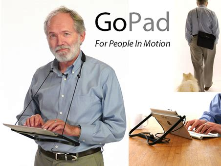 The Gopad Is A Mobile Ipad Wielder S Best Friend Even If Wearable Laptop Desk