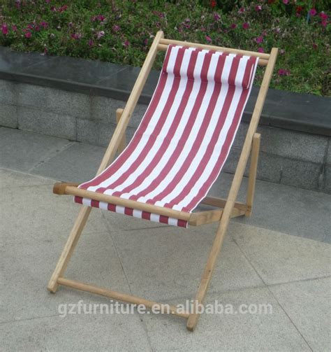 Canvas Deck Chairs - beech deck chair with pillow durable canvas folding