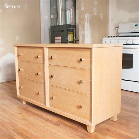 dresser kitchen island before and after a bedroom dresser turned rolling kitchen
