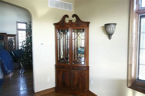 dining room corner cabinets corner china cabinet or corner hutch for the dining room ebay