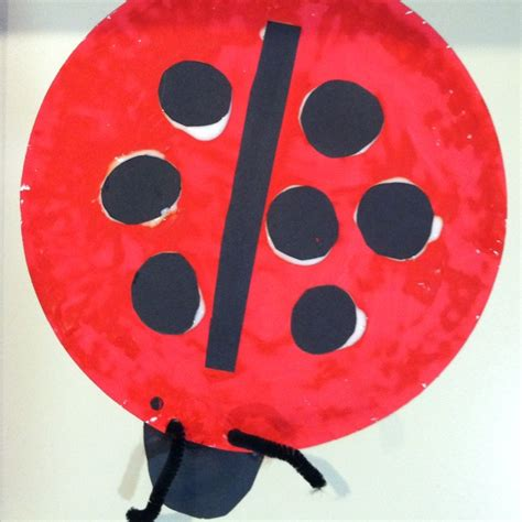 Ladybug Paper Plate Craft - paper plate bug craft preschool craft ideas