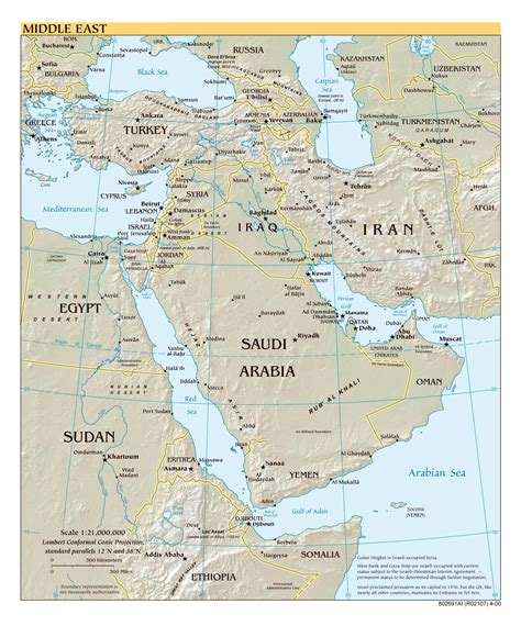 middle east political map hd large scale political map of the middle east with relief