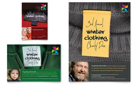 Winter Clothing Drive Flyer Ad Template Design Apparel Flyer Templates