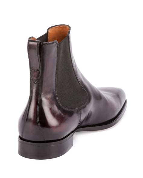 berluti classic leather chelsea boot in purple for lyst